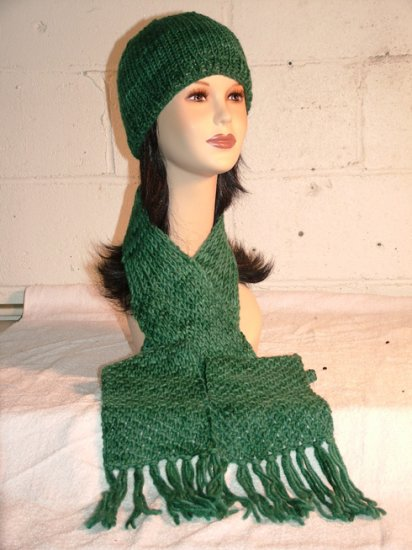 KNC Hand Knit Seaman's Wool Set Teal Green Shades