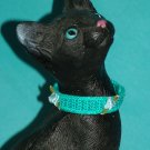 KNC KittyWear Beaded Crochet Cat Collar Roses