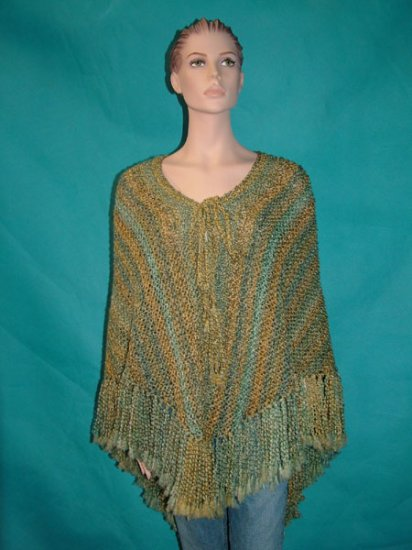 KNC Hand Knit Homespun Shawl Meadow