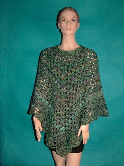 KNC Coming Home Hand Crochet Poncho Regency Sz L-1X