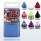 Fake Nose/Lip/Tragus Piercing Magnetic UV Cone Magna Studs in White 3mm