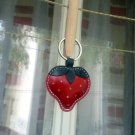 Cute Little Red Strawberry Handmade Leather Keychain - FREE Shipping Wordlwide