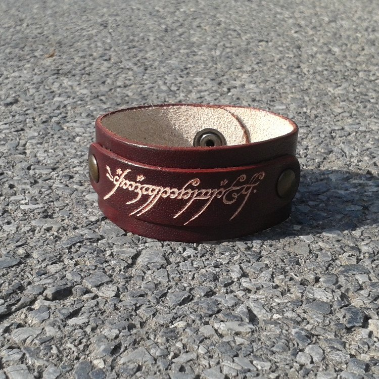 Lord Of The Rings Inspired Handmade Leather Bracelet Brown Color - FREE Shipping Wordlwide