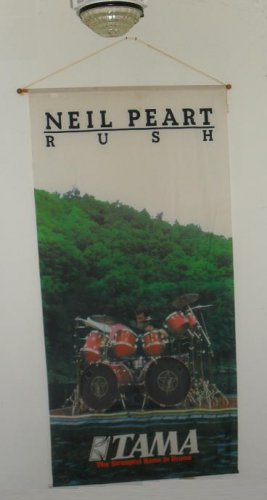 Neil Peart TAMA Drums Banner