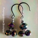 rainbow  double drops earrings