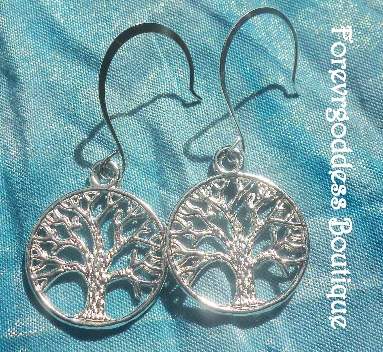 Silver  Tree of Life  earrings      Item# TLE  01