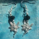 Black Crystal Faery earrings 		Item# BKFE 01