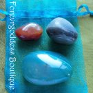 3 Agates (Aqua) crystal kit