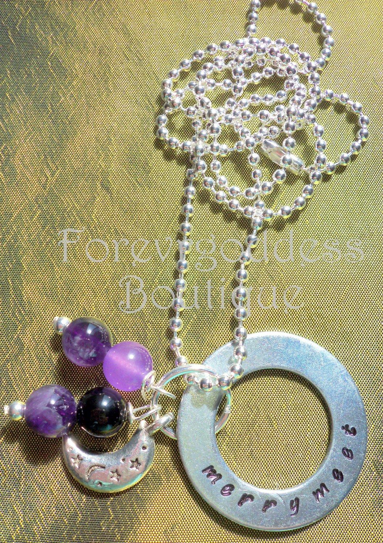 Merry Meet /Amethyst  necklace