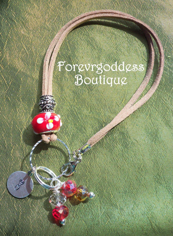 Red flower Goddess Bracelet