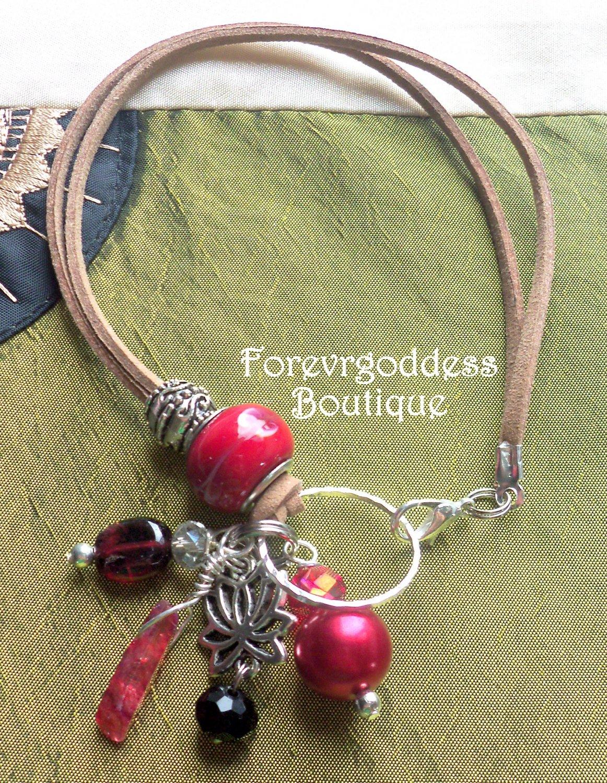 Lotus / Ruby aura  point  Bracelet