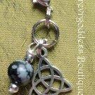 Snowflake Obsidian/ Trinity pet  pendant