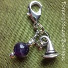 Amethyst / Witch's hat pet  pendant