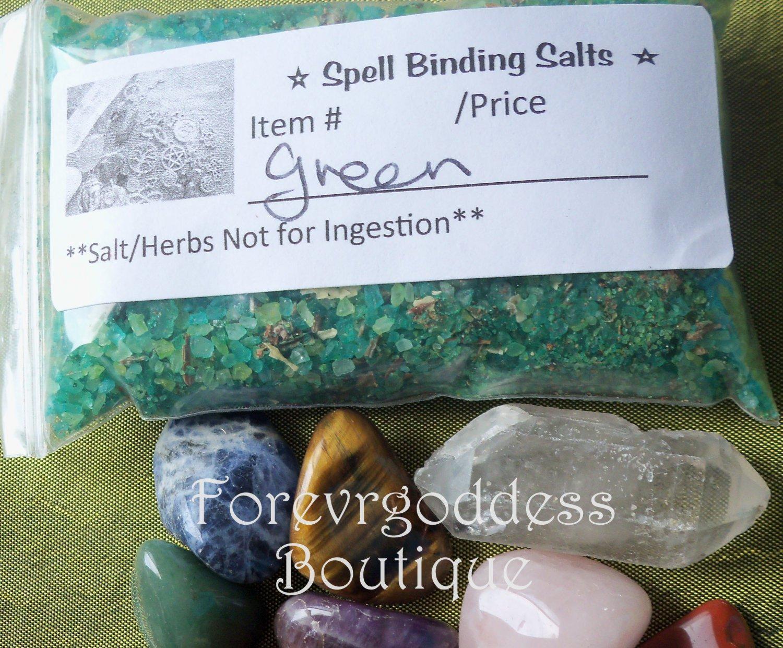 Spell Binding Salt/Herb Mix � green   item# SBG 01-02