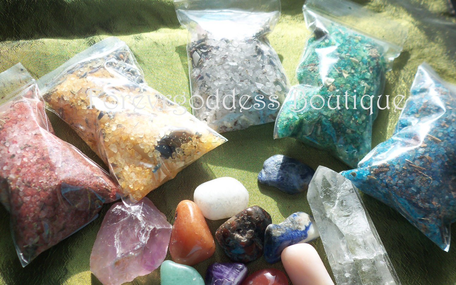 Spell Bind ritual salt/herb mix � 5 set. #SBRW 02-03