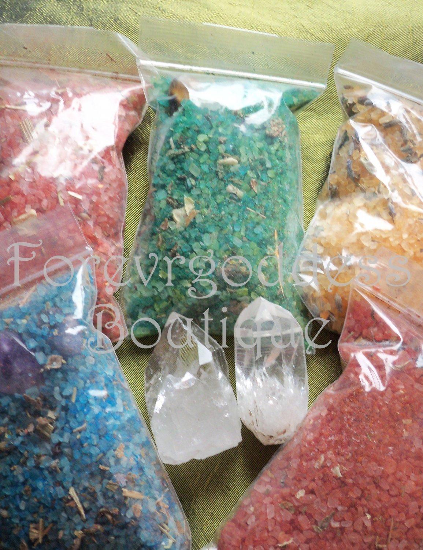 Spell Bind ritual salt/herb mix � 5 set ( Pink)Item# SBRPK 01