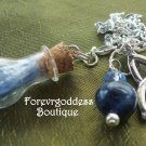 Blue Kyanite Glass  Pendulum