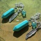 2  Blue Howelite/ Turquoise matching   Pendulums
