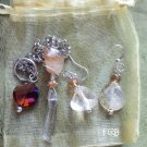 Quartz / Citrine pendulum earrings