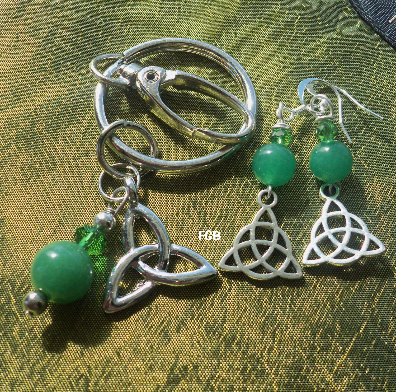Aventurine Keychain earrings