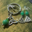 Aventurine Keychain earrings