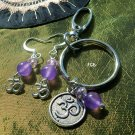 Purple Jade  Keychain earrings