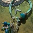 Turquoise angel wings bracelet set