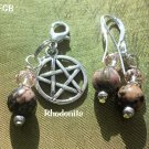 Rhodonite pet pendant set