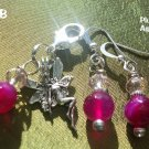 Plum Agate  Pet Pendant Set