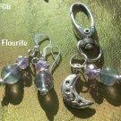 Fluorite  Pet Pendant Set