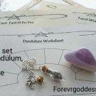 Divination Set  worksheet/pendulums #DWAP 01