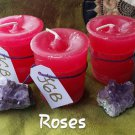 Rose votive candle