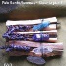 Palo santo / Lavendar/faery quartz  bundles A-C