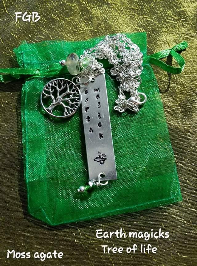 Element Earth magick aveturine necklace