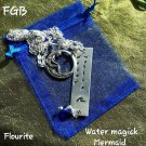 Element Water Magick  flourite necklace