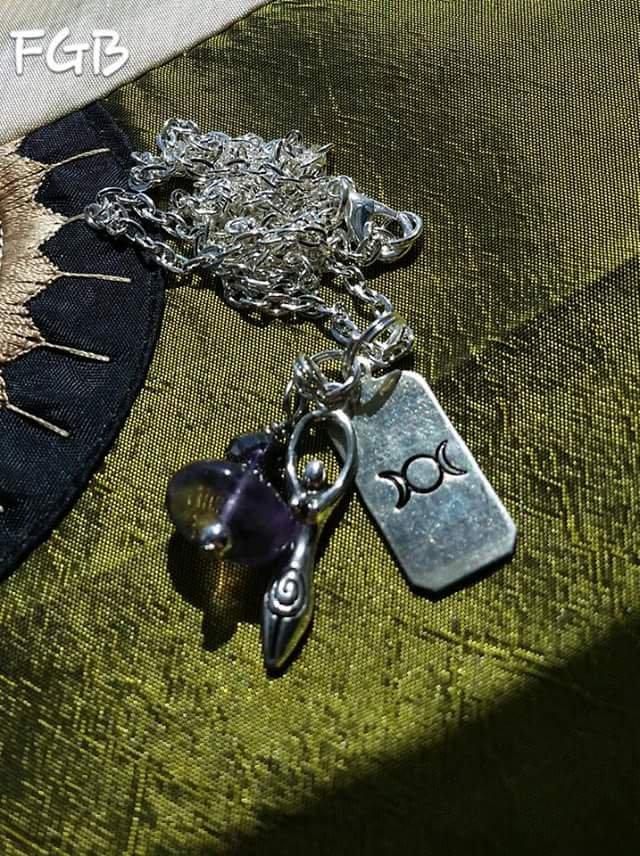 Triple goddess minimalist necklace