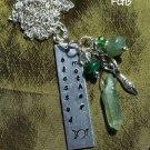 """"""" Blessed Mother """" handstamped gemstone nk #BM 01B"""