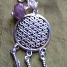 Seed of life dream catcher necklace