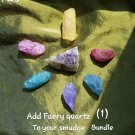 ADD Faery quartz point to smudge bundle