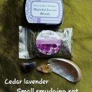 Small cedar / Lavendar blend smudge set