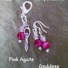 Pet pendants plum agate -Goddess