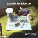 Magickal Sabbat Samhain/ All Hallows Pendulum set
