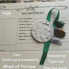 Tarot Wheel of Fortune clay ornament #01