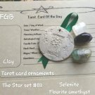 Tarot The Star clay ornament