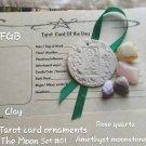 Tarot The Moon clay ornament