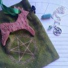 Aventurine pendulums /ornaments sachet set