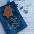 Sodalite pendulum ornaments sachet set