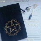 Snowflake obsidian pendulum ornaments sachet set