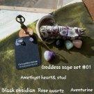 GODDESS BOX #09 Sage bundle Amethyst