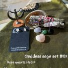 GODDESS BOX #10 Sage bundle -Rose quartz